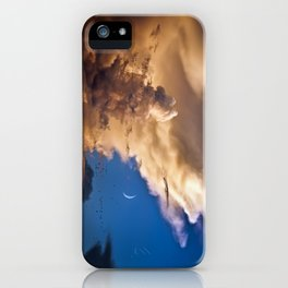 Clouds, Birds, Moon, Venus iPhone Case