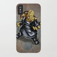 resident evil iPhone & iPod Cases featuring Nemesis: Resident Evil by Patrick Scullin