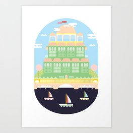 The Cosy Cottage Art Print