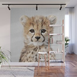 Baby Cheetah - Colorful Wall Mural