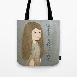 Portrait of Cosette from Les Misérables Tote Bag
