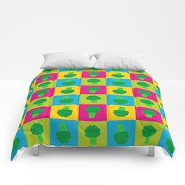 Popart Broccoli Comforters