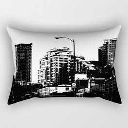 99 North in Black and White Rectangular Pillow
