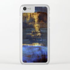 Cave 03 / The Interior Lake / wonderful world 10-11-16 Clear iPhone Case