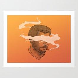 Smokin' Jay Art Print
