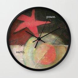 peace. earth. peace on earth. Wall Clock