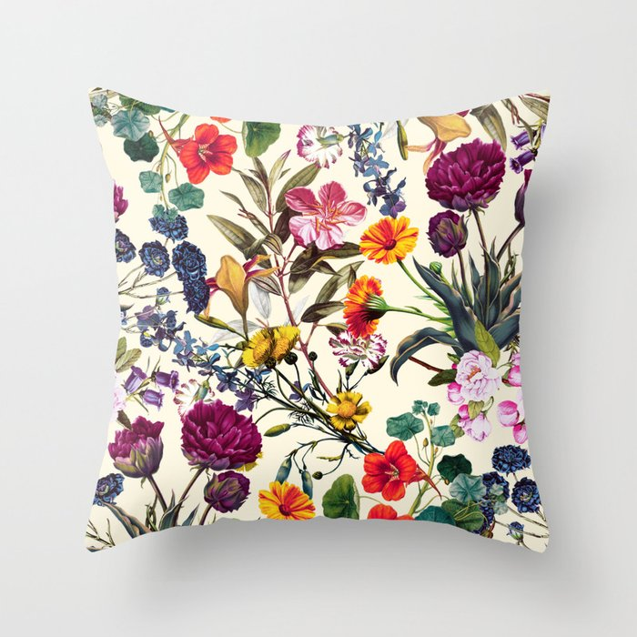 Magical Garden V Throw Pillow