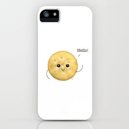 Super Cute Realistic Cracker Kawaii (Clever huh?) :p iPhone Case