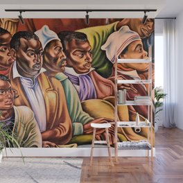 "African American Classical Masterpiece ""Amistad Jury"" by Hale Woodruff Wall Mural"