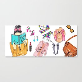 Fashion 101 Coffee Mug, Pinales Illustrated Canvas Print