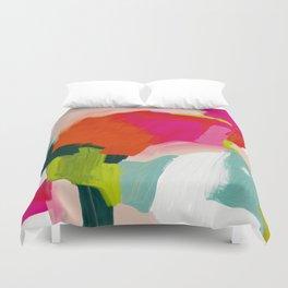 abstract pink art Duvet Cover