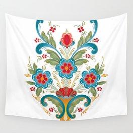 Nordic Rosemaling Wall Tapestry