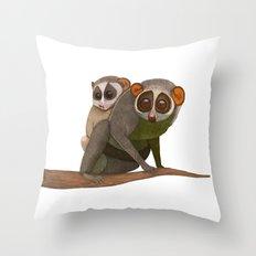 Mumma and Bubba Loris Throw Pillow