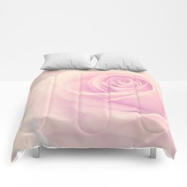 Vintage rose - Beautiful lightpink flower - Roses Comforters