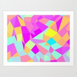 SQ Triangles Art Print