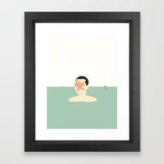 EN SMUK DAG PÅ HAVET (... a beautiful day at sea!) Framed Art Print