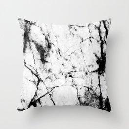 Marble Concrete Stone Texture Pattern Effect Dark Grain Throw Pillow