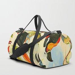 Album de aves amazonicas - Emil August Göldi - 1900 Tropical Colorful Amazon Birds Duffle Bag