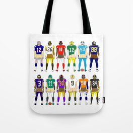 Football Butts Tote Bag