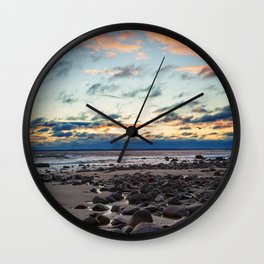 Sunrise over Plum Island Wall Clock