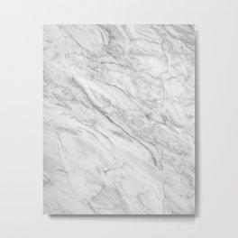 White Marble 008 Metal Print