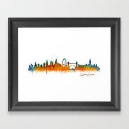 London City Skyline HQ v2 Framed Art Print