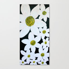 Daisies at Night Canvas Print