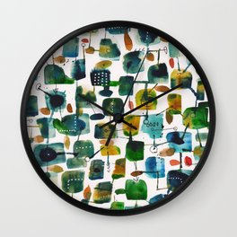 places 2 Wall Clock