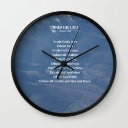 Breathe God- Mountains Wall Clock