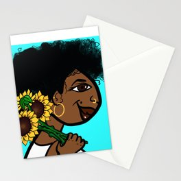 She Carries Beautiful With Her... Stationery Cards