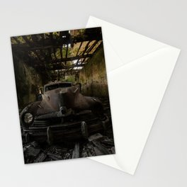 Gangster squad, abandoned old car Stationery Cards