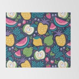 Hello Fruity Throw Blanket