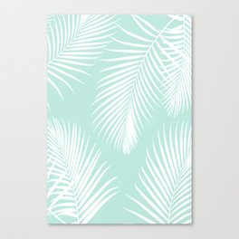 Mint Tropical Pattern Canvas Print