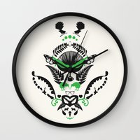 new zealand Wall Clocks featuring New Zealand  by Carly Hitchcock