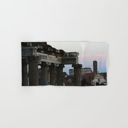 Roman Forum and Colosseum of Rome at Sunset Hand & Bath Towel