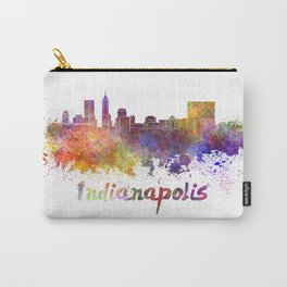 Indianapolis skyline in watercolor Carry-All Pouch