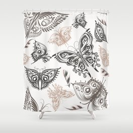 Butterfly design classic elegant graphic design Shower Curtain