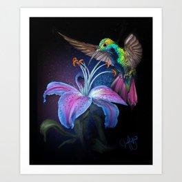 The Stargazer and The Hummingbird Art Print
