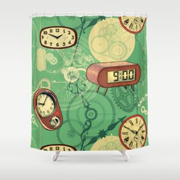 TIC TAC TIME Shower Curtain