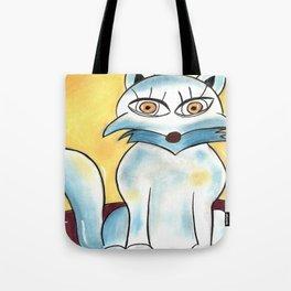Foxy Blue Tote Bag