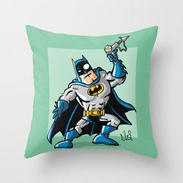 Another Strong man in a super hero costume Throw Pillow