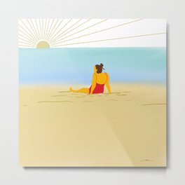 Sunbath Metal Print