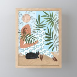 I like to relax Framed Mini Art Print
