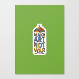 Make Art Not War (African print green) Canvas Print