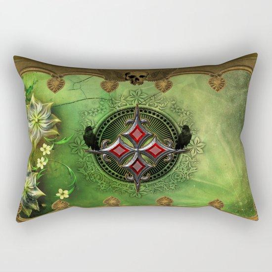 Wonderful gothic design with cross Rectangular Pillow