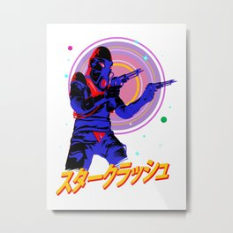 Space Gunslinger Metal Print