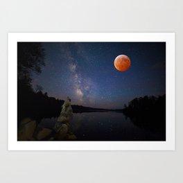 Super Blood Wolf Moon Art Print