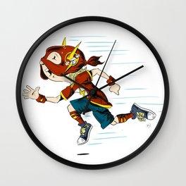 fast kid Wall Clock
