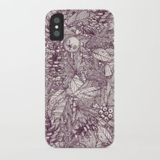 forest floor berry ivory Slim Case iPhone X
