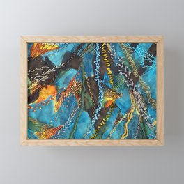 Traces of thought Framed Mini Art Print